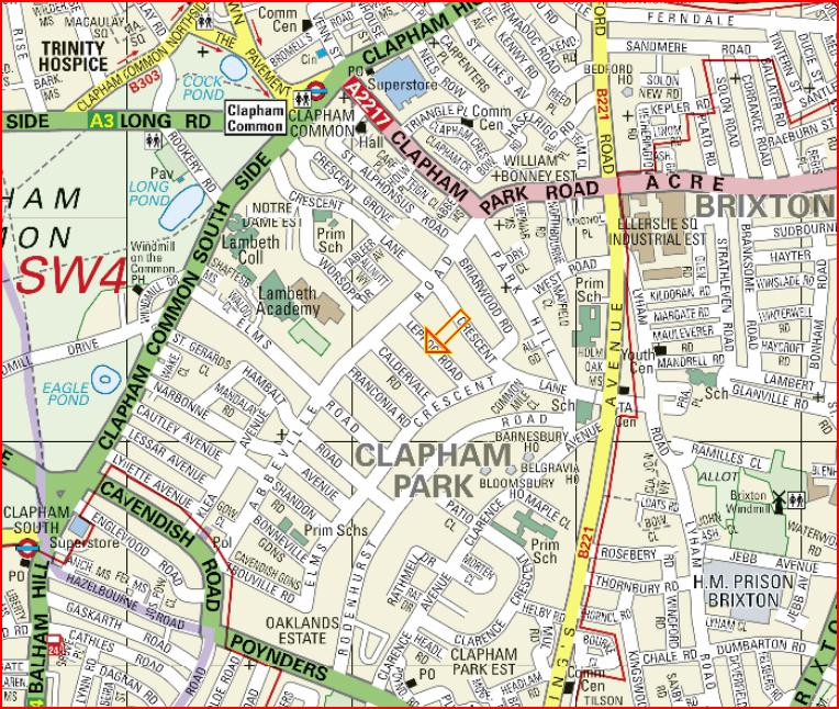 Clapham Osteopath Location